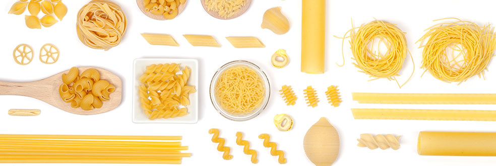 3 pasta families, hundreds of shapes, thousands of recipes!