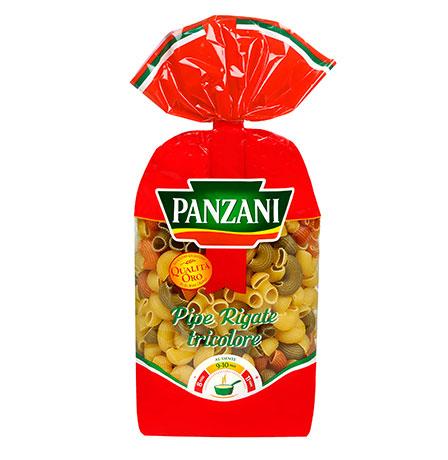 Panzani Pipe Rigate Tricolore