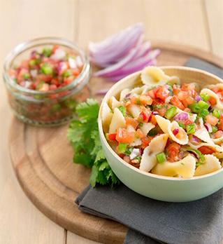 Pasta salad Pico de Gallo style